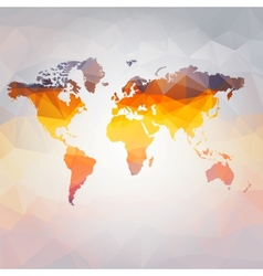 modern concept of world map vector image vector image