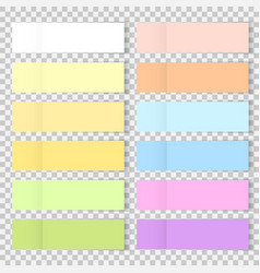 office bookmarks or sticker note paper vector image
