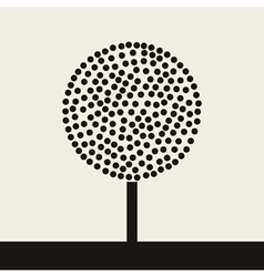 round tree vector image vector image