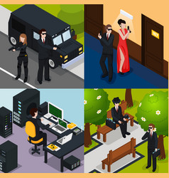 special agent isometric concept vector image vector image