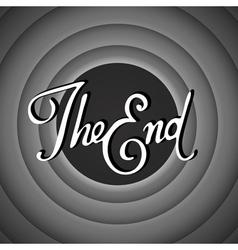 Vintage movie ending screen vector