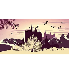 beautiful ancient castle vector image