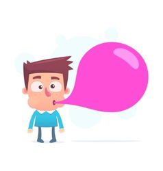 large inflated bubble may burst vector image vector image