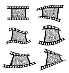film tape design vector image vector image