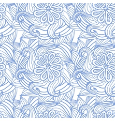 Abstract seamless pattern with flowers hair type vector image