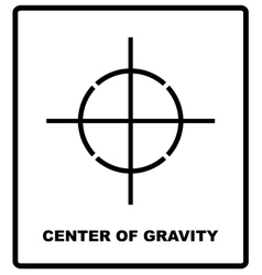 CENTER OF GRAVITY packaging symbol on a corrugated vector image vector image