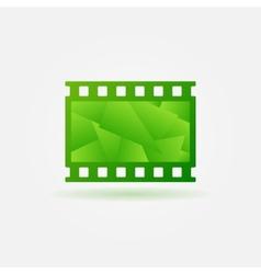 Cinema filmstrip logo template vector image