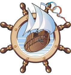 ship amp wheel vector image