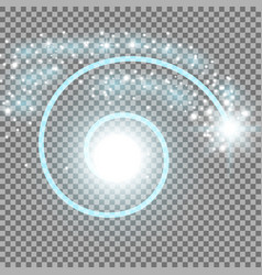 spiral with particle dust aqua color vector image