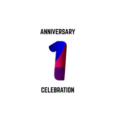 1 year anniversary celebration logo template vector
