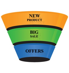 3d cone shape business growth banner icon vector image