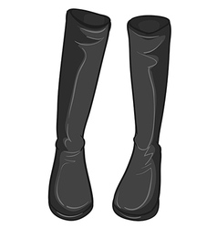 A pair of gray boots vector image