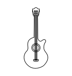 acoustic guitar instrument icon vector image vector image