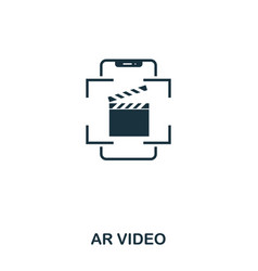 ar video icon mobile app printing web site icon vector image