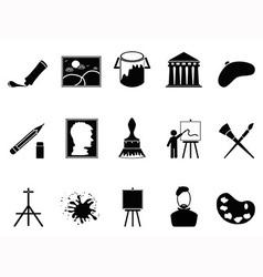 Artist icons set vector