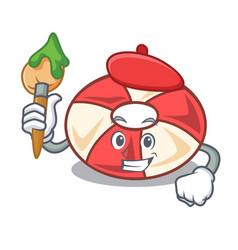 Artist swim tube character cartoon vector