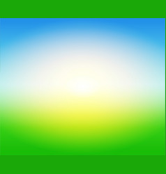 background sunny day on field vector image