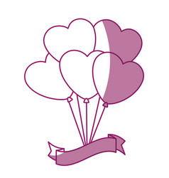Balloon in heart shape icon vector