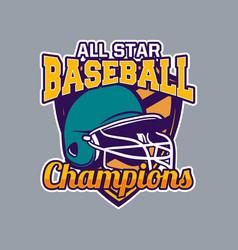 Baseball badge logo emblem all star champions vector