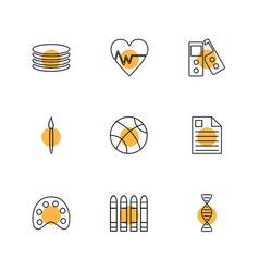Basketball dna brush heart beat cpu vector