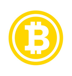 Bitcon icon gold vector