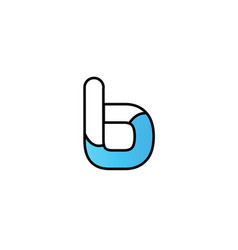 Black blue alphabet letter b logo company icon vector