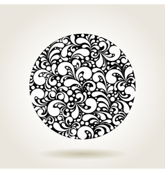 black curves circle1 vector image