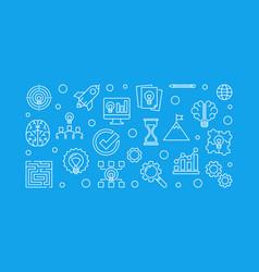 brainstorm outline vector image
