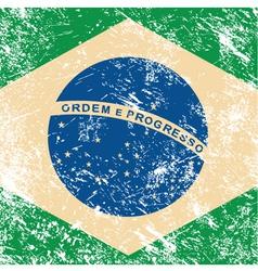 Brazil retro flag vector