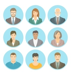 Business people flat avatars male and vector image