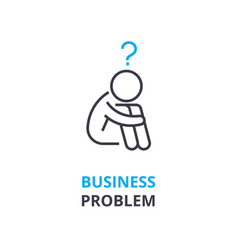 business problem concept outline icon linear vector image