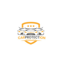 car protection logo design inspiration vector image