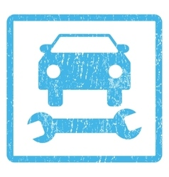 Car Repair Icon Rubber Stamp vector