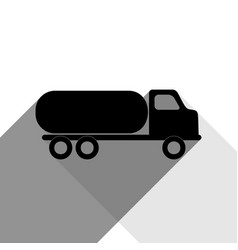 Car transports sign black icon with two vector