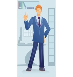 cartoon white-collar vector image