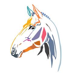 Colorful decorative horse 15 vector