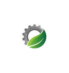 Creative gear leaf agricultural technology logo vector