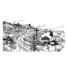 Cripple creek mine vintage vector