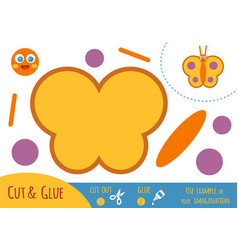 education paper game for children butterfly vector image