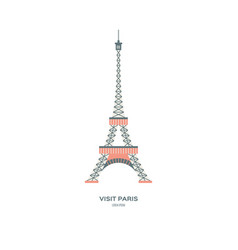 eiffel tower drawing vector image