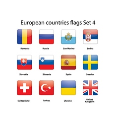 European countries flags set 4 vector image