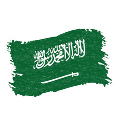flag of saudi arabia grunge abstract brush stroke vector image