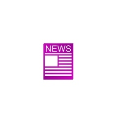 Flat icon of news vector