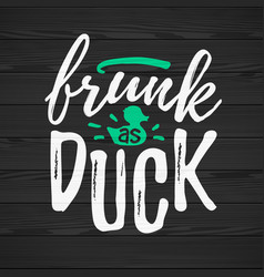 frunk as duck funny handdrawn dry brush style vector image
