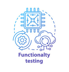 Functionality testing concept icon black-box vector