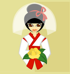 Girls in bride costume no8 vector