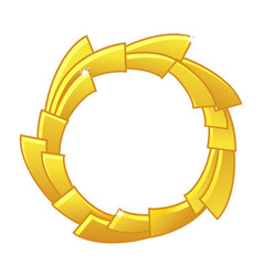 Gold game avatar royalty round frame template vector