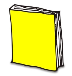 Hand drawn book with color vector