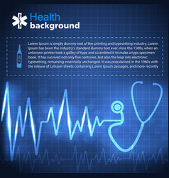 health blue background vector image