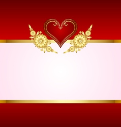 heart decoration with copy space vector image